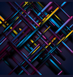 Dark colorful smooth stripes abstract tech vector