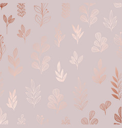 Decorative pattern with rose gold imitation vector