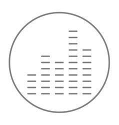Digital equalizer line icon vector image