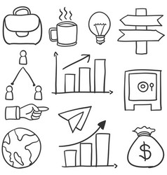 Doodle of business object art vector
