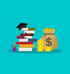 education with scholarship money for tuition vector image