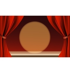 Empty theater stage vector