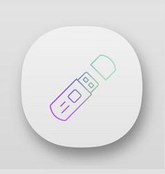 external data storage usb flash drive app icon vector image