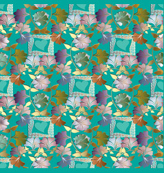 floral colorful 3d seamless pattern vector image
