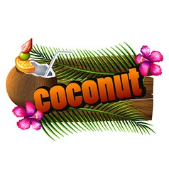 Font design with word coconut vector