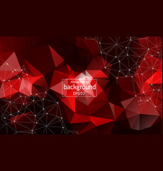 geometric dark red polygonal background molecule vector image