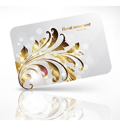 Gift Card with Floral Design vector image