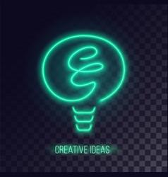 green neon light icon vector image