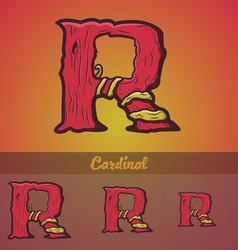 Halloween decorative alphabet - R letter vector image vector image