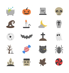 Halloween Party Flat Color Icons vector