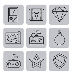 Icon video games classic vector