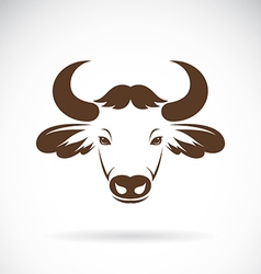 Images of bison head vector