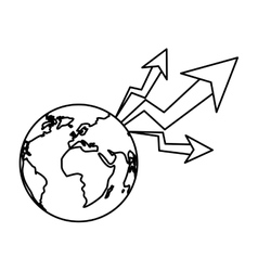 Isolated increase and planet design vector
