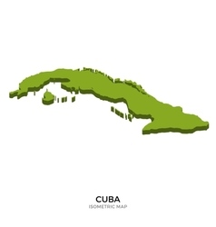 Isometric map of Cuba detailed vector