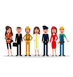 labor day people group characters of different vector image