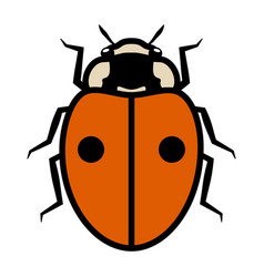 Ladybug logo symbol icon sign with two black spots vector