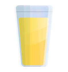 lemonade glass icon cartoon style vector image