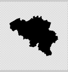 Map belgium isolated black vector
