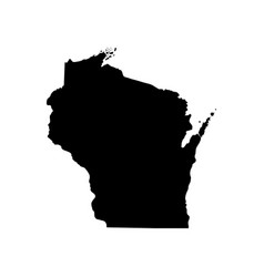 Map of the us state of wisconsin vector