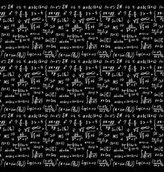 Math formulas seamless pattern hand drawn vector