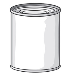 Metal can vector image