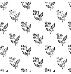 Minimalistic floral seamless pattern vector