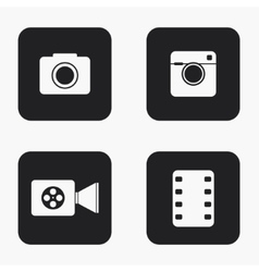 Modern camera icons set vector