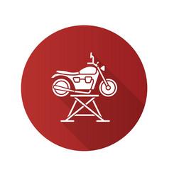 motorbike jack flat design long shadow glyph icon vector image