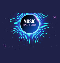 music abstract background planet sound bright vector image