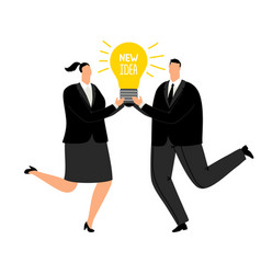 new business idea office people in vector image