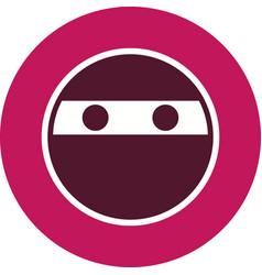 Ninja emoji icon vector