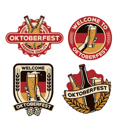 oktoberfest badge design vector image