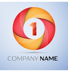 One number colorful logo in the circle template vector