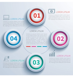 paper circle infographic vector image