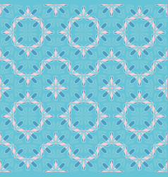 Pastel color flower petals geometric tiles vector
