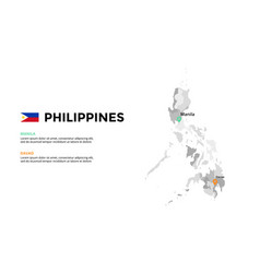 philippines map infographic template slide vector image