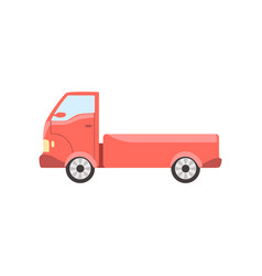 red truck delivery cargo lorry vector image