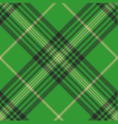 seamless plaid green tartan check fabric texture vector image