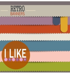 set colorful retro banners vector image