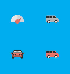 Set of simple traffic icons vector