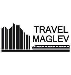 Travel maglev symbol vector