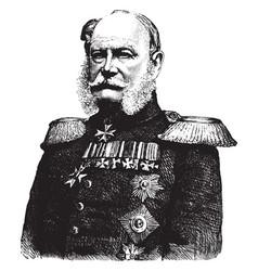 William i emperor germany vintage vector