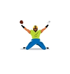 American football sign Player celebrating a goal vector image vector image