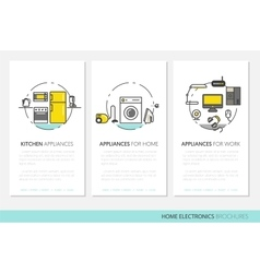 Home Electronics Appliances Business Brochures vector image vector image