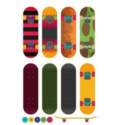 skateboard isolated on white background vector image