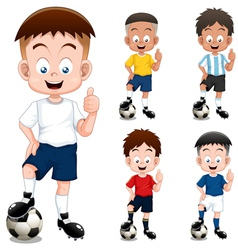 Boy soccer player vector image