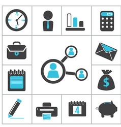 Buisness icons vector image