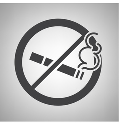 Do not smoking icon vector image