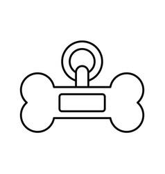 dog bone icon vector image vector image