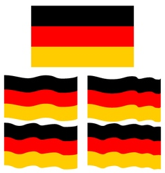 Flat and Waving Flag Of Germany vector image vector image